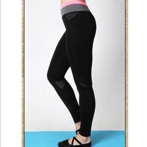 'All In' Black Neon Pink Athletic Leggings